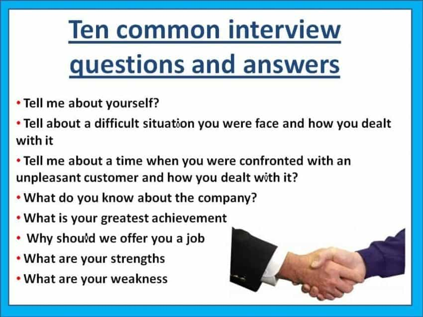 interview questions with answers
