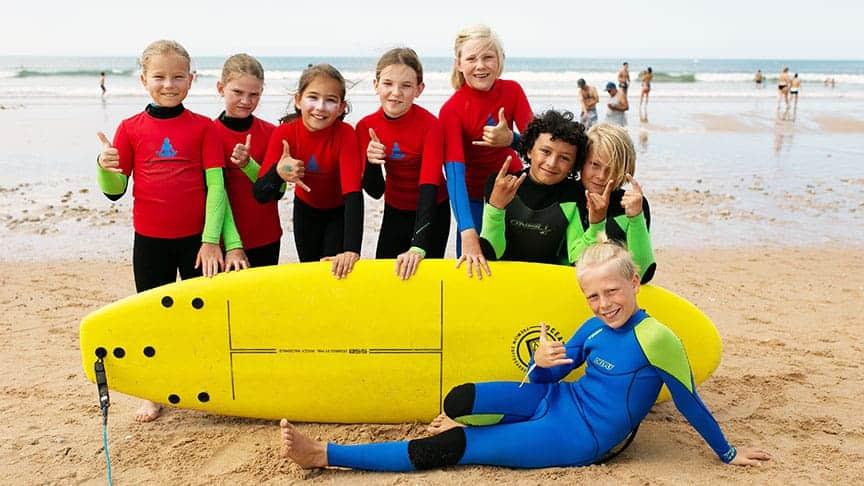 surf lessons for kids lisbon area algarve