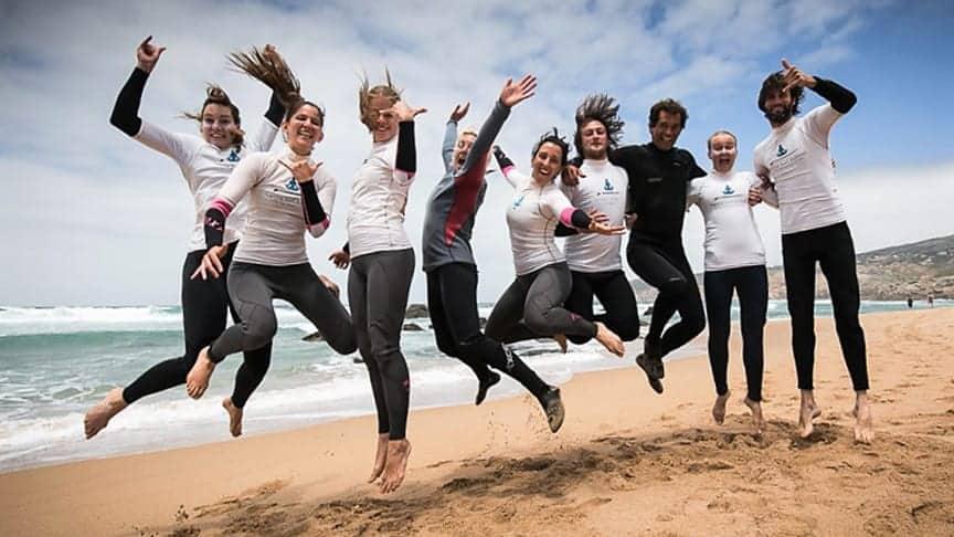 surf school lisbon cascais students