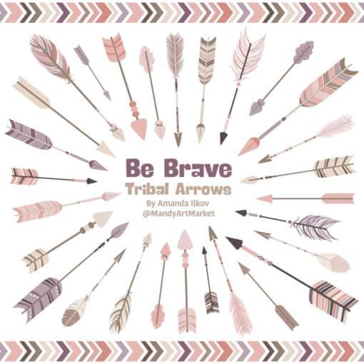 Buff Tribal Arrows Clipart
