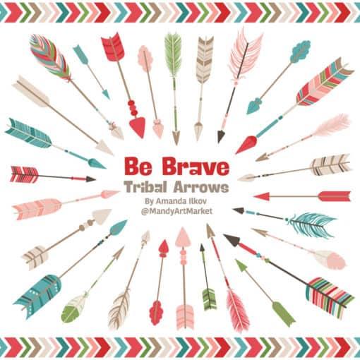 Cherry Bomb Tribal Arrows Clipart