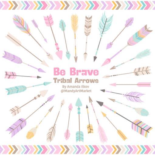 Fresh Girl Tribal Arrows Clipart