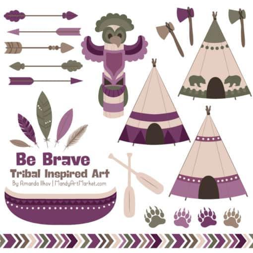 Plum Tribal Clipart