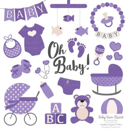 Purple Baby Clipart