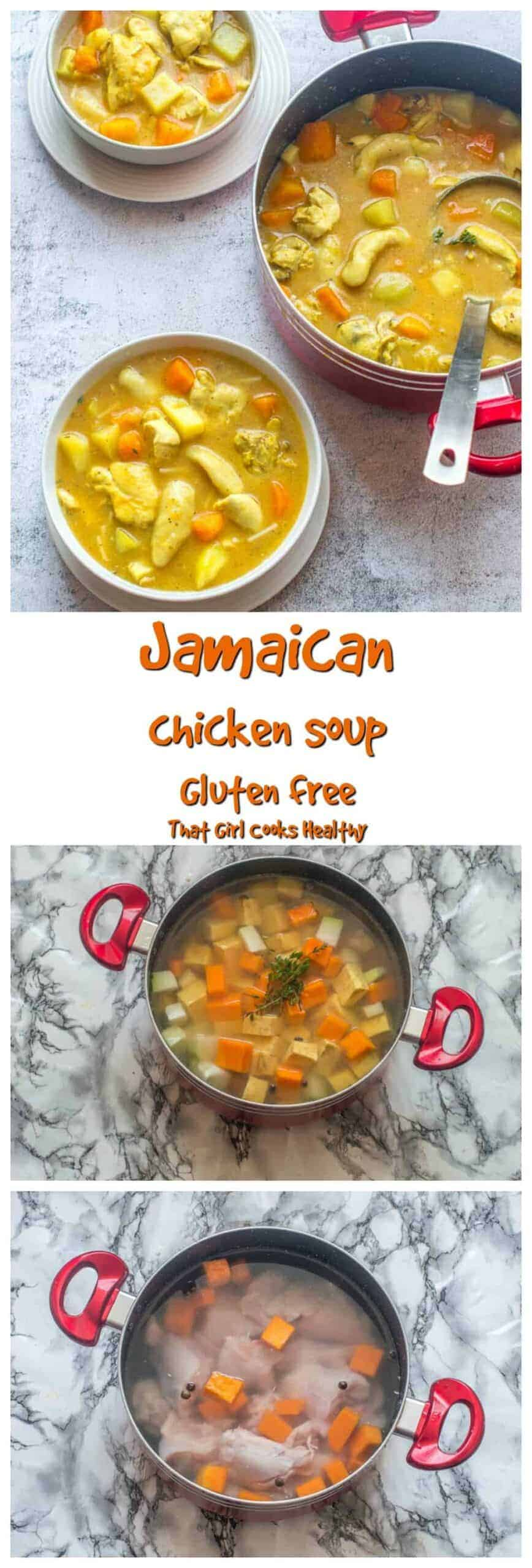 Warm and hearty Jamaican chicken soup