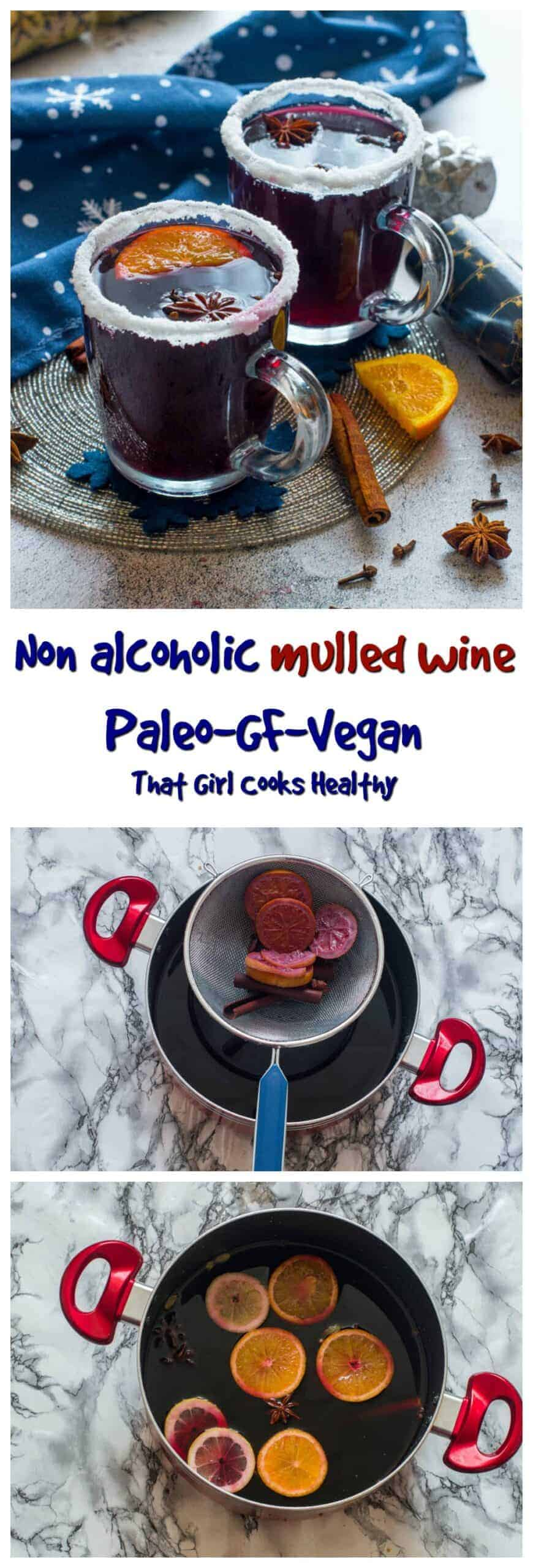 Embrace the festive season with this tasty non alcoholic mulled wine