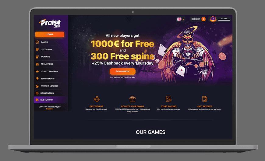 Praise Casino Full Review