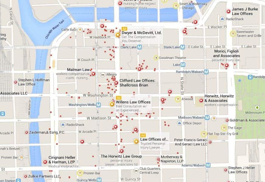personal injury attorneys   Google Maps
