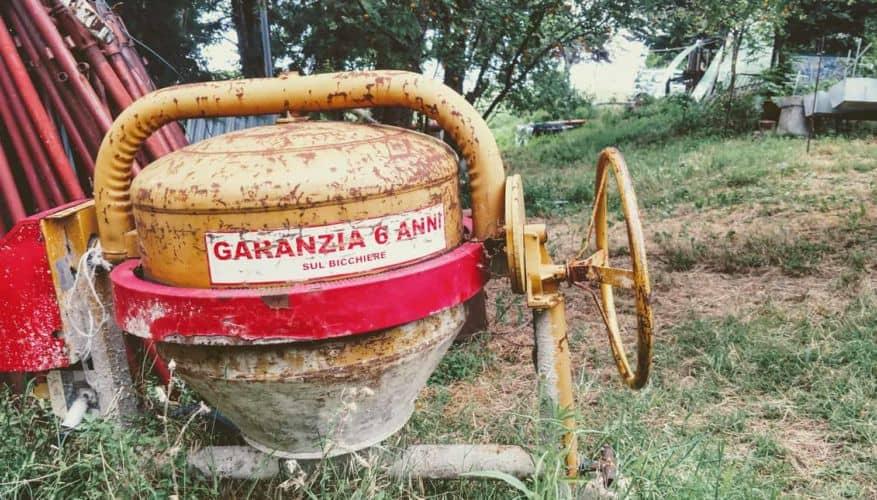 Concrete Mixer in a field in Italian Countryside