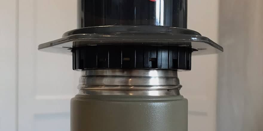 AeroPress is too wide to fit into the Kinto Travel Tumbler