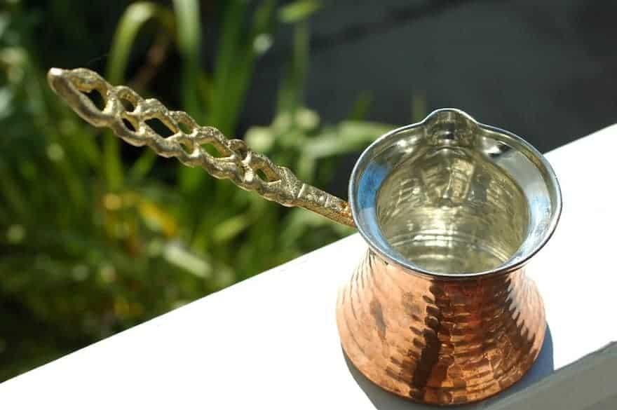 Cezve for making Turkish coffee