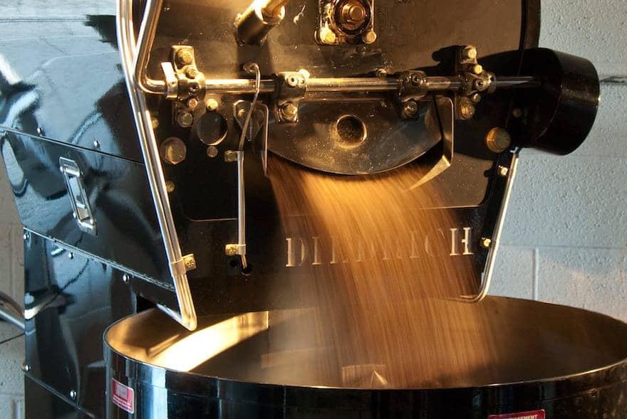 Industrial drum roaster