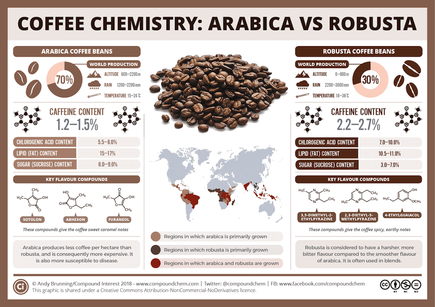 Coffee chemistry infographic