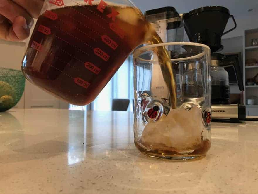 It's always good to have a few new, full-size ice cubes in your drinking mug.