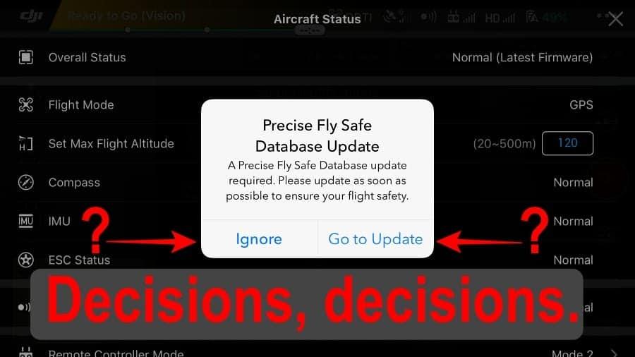 precise fly safe database update