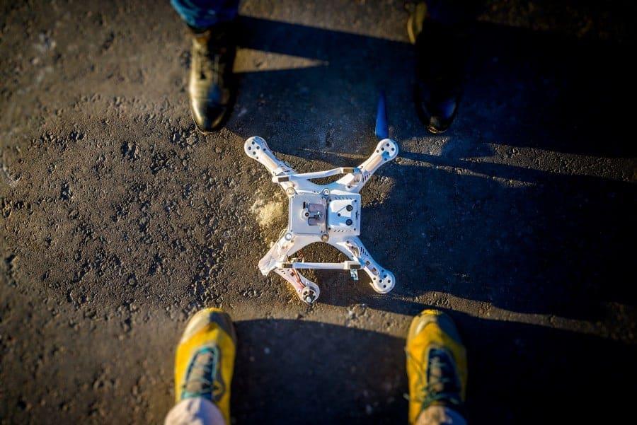 crashed dji drone