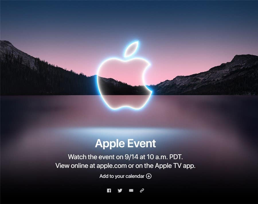 Apple iPhone 13 Event On September 14th