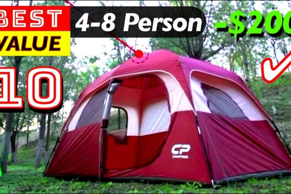 10 Best Value Camping Tents 4-8 Person under 200 Dollars