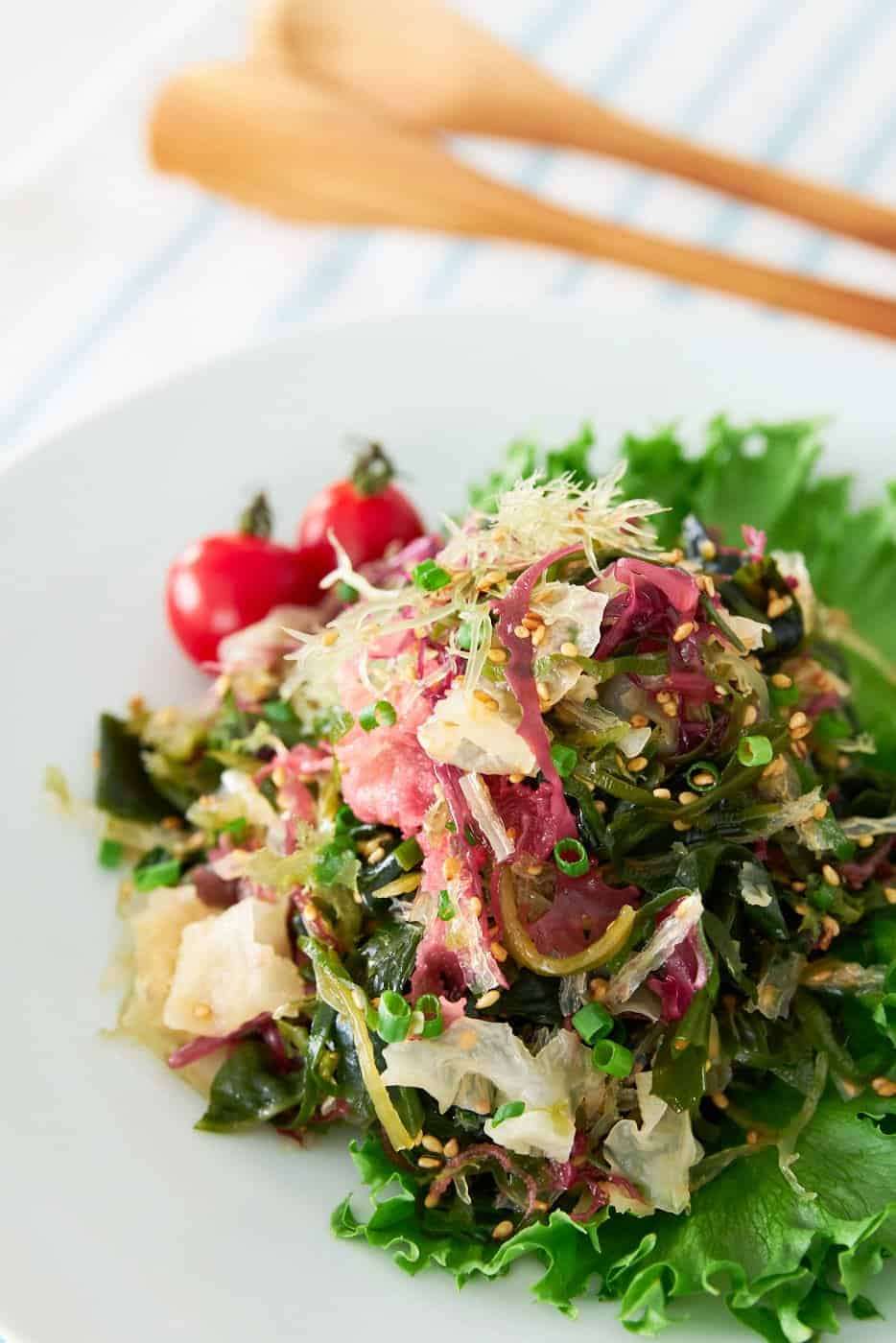 Savory, sweet, and redolent of toasted sesame, Seaweed Salad is cheap and easy to make at home!