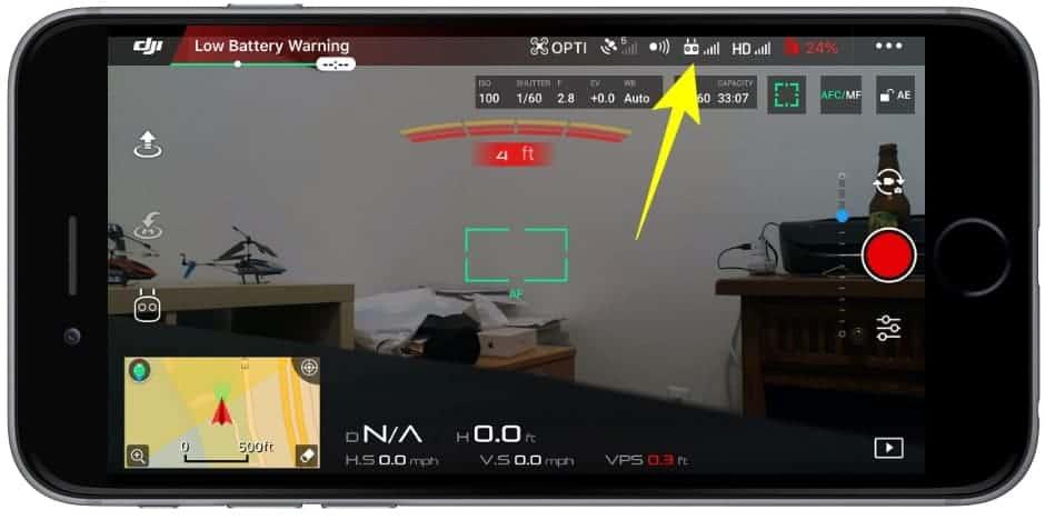 DJI remote controller settings