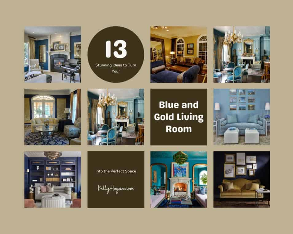 13 Stunning Ideas To Turn Your Blue And Gold Living Room Into The Perfect Space