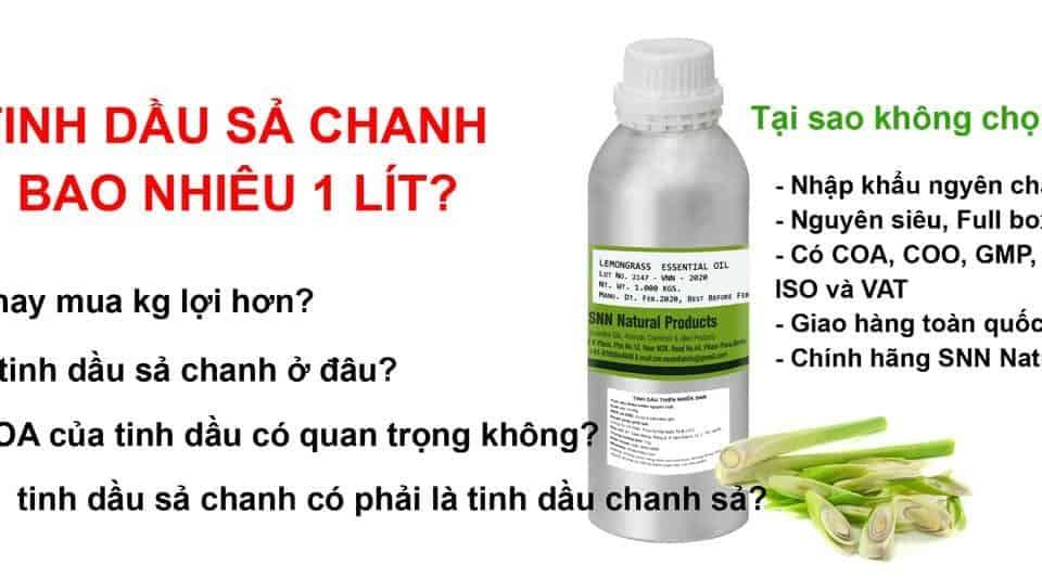 tinh dầu sả chanh bao nhiêu 1 lít
