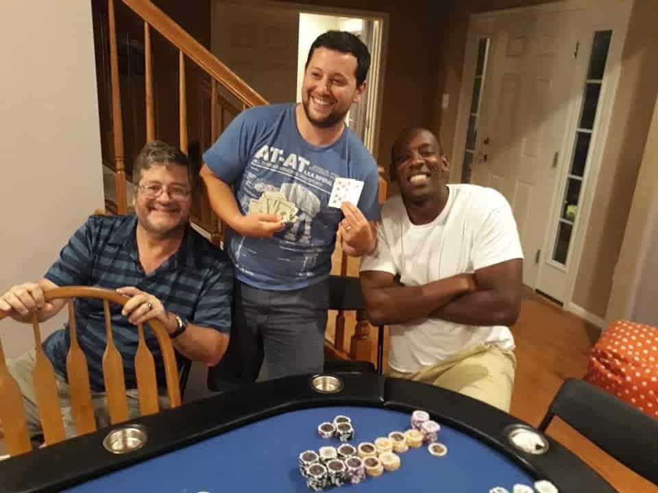 Ian wins dads only poker night