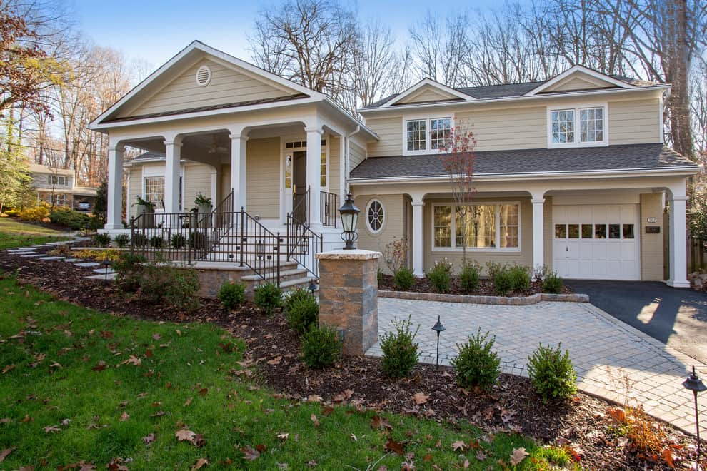 after the remodeling, there is a new raised-entrance and porch