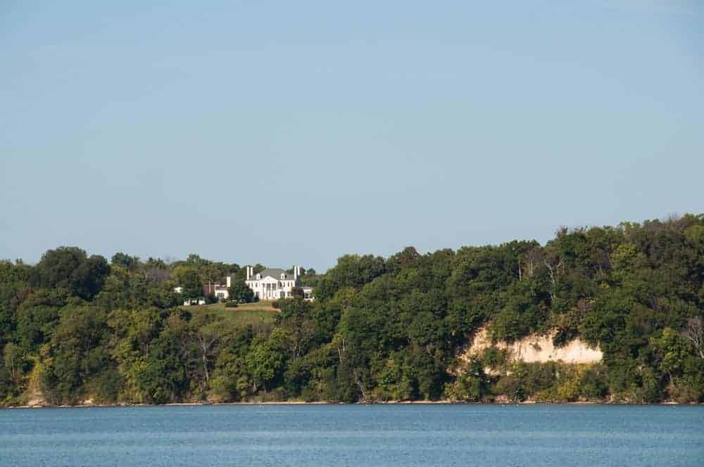 Waterfront estates overlook the Potomac on the route to Wades Bay. Photo by Jody Argo Schroath.