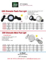 120V LED Dimmable Puck Light