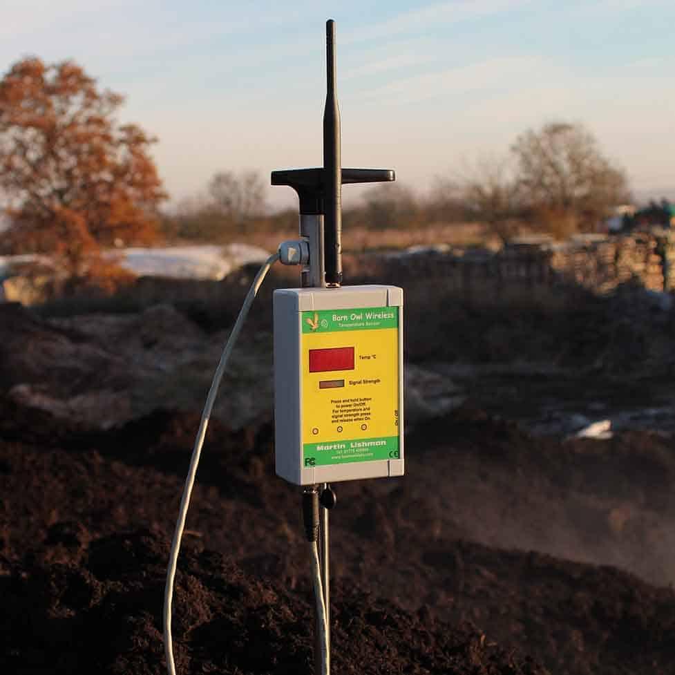 Martin Lishman Barn owl Wireless automatic crop monitoring and control system compost temperature probe