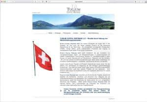 Screenshot der Internetseite Tugium Capital Partners