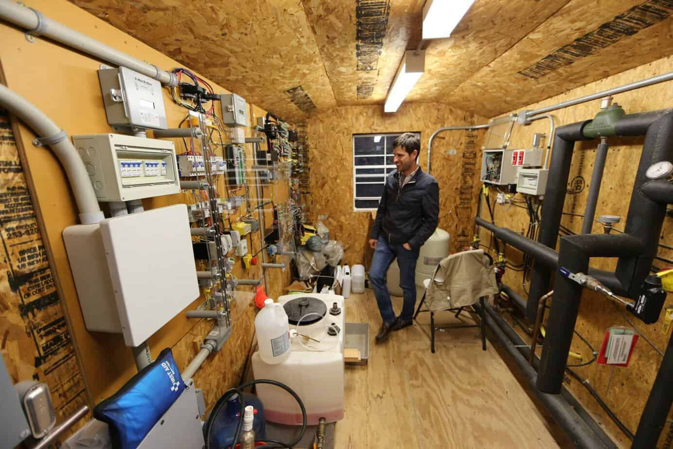 Control center for Duke Forest warming chambers. (photo: James Waters)