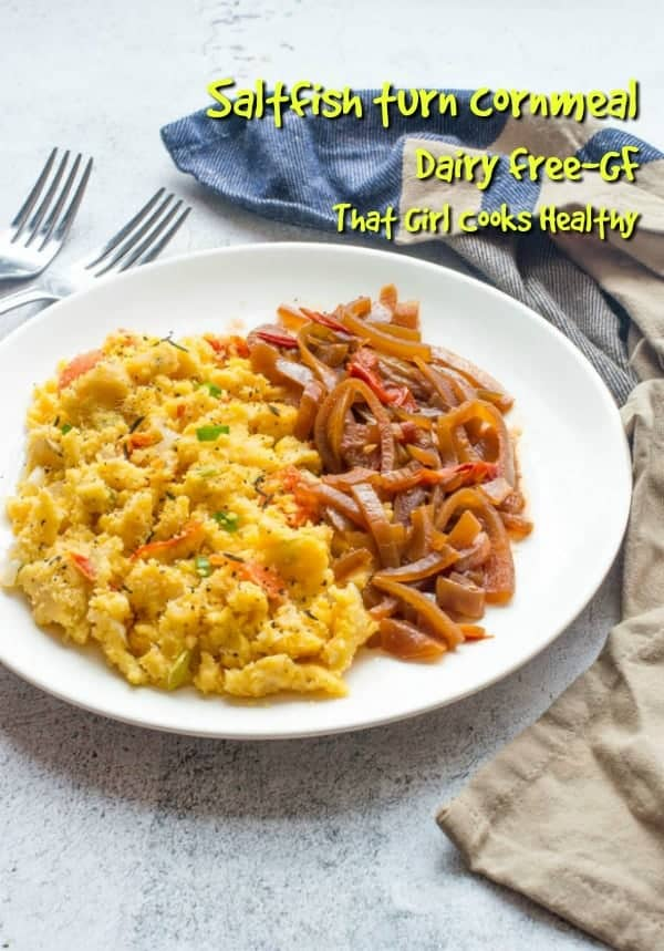 Saltfish turn cornmeal is a twist of a classic Jamaican delicacy