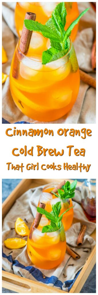 Stop brewing your iced tea with hot water and try this cold brewed cinnamon orange tea