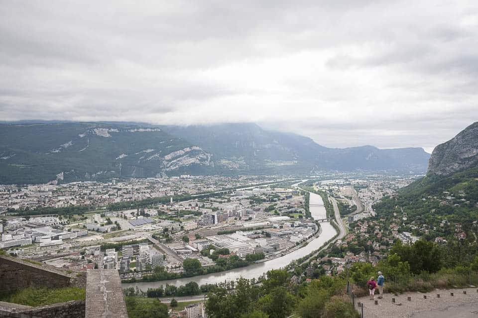 photo numérique nikon d700 vue de la Bastille sur Grenoble - 2