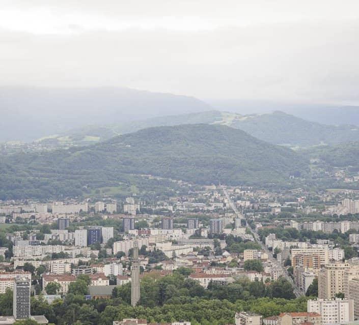 photo numérique nikon d700 vue de la Bastille sur Grenoble