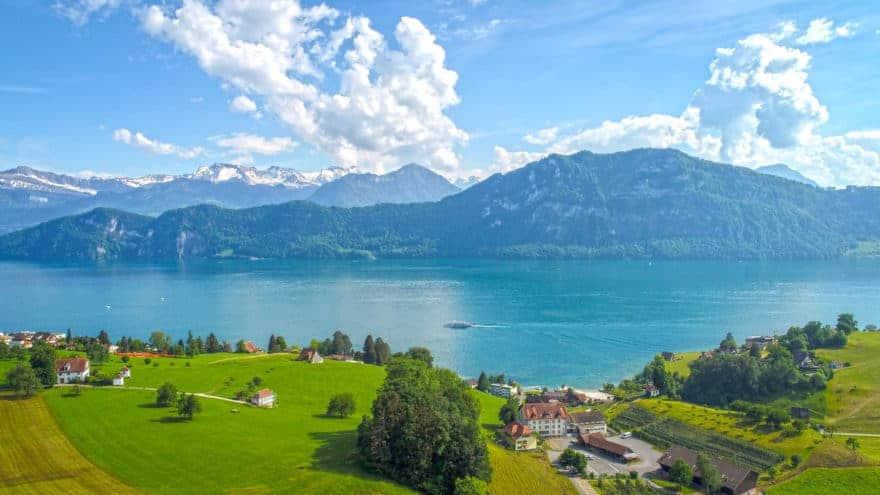Weggis, Switzerland, home of AG Thermoplan which builds Mastrena espresso machines for Starbucks