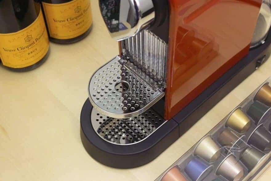 Nespresso machine with capsules