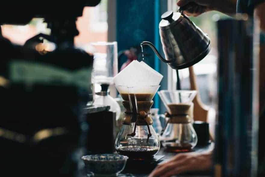 Brewing with Chemex.