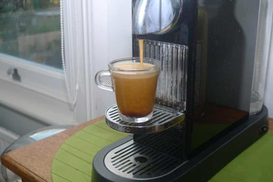 Cup filling with Nespresso.