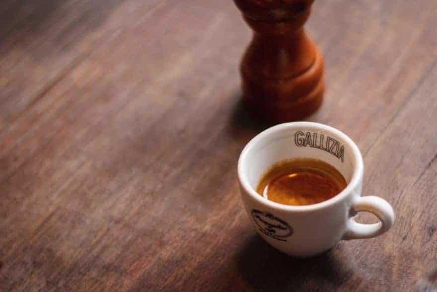 A small cup of espresso