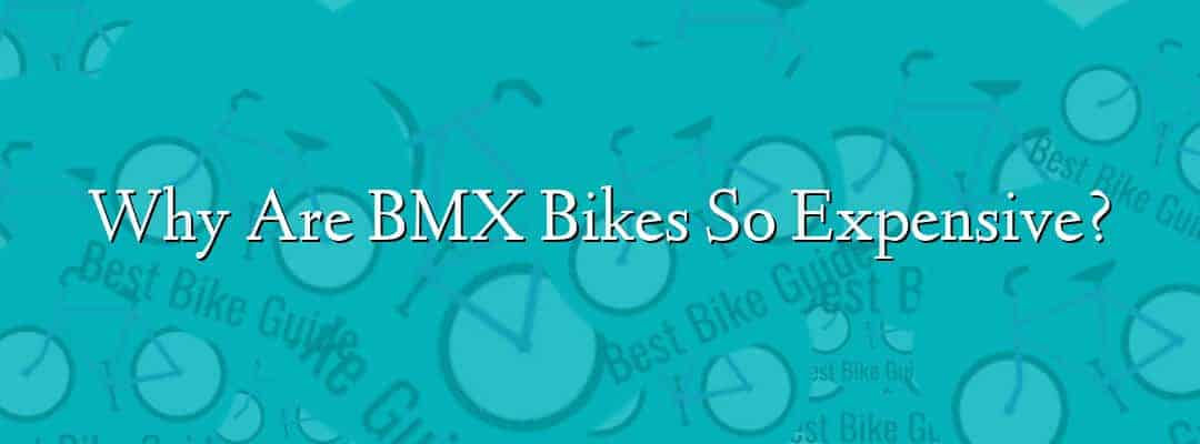 Why Are BMX Bikes So Expensive?