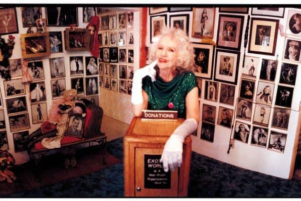 Dixie Evans inside the Exotic World Burlesque Museum, 2005. Photo by Laure Leber.