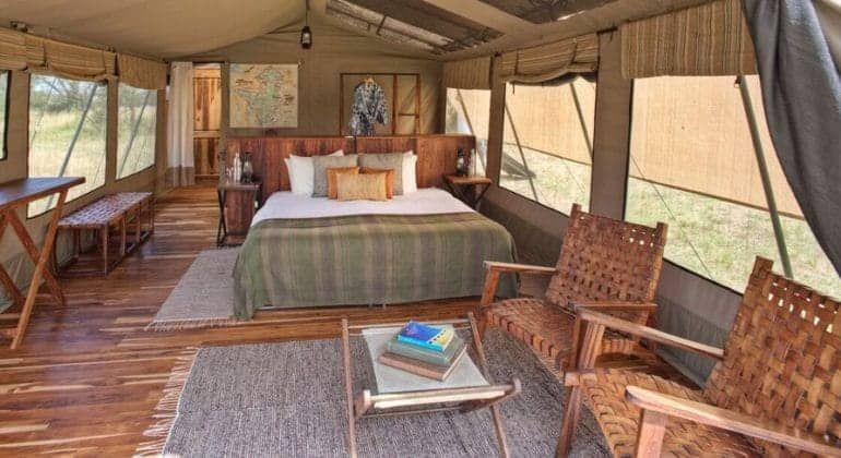Olakira Camp Tent Interiors