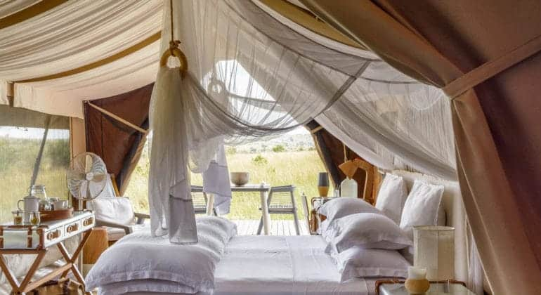 Mara River Tented Camp Bedroom
