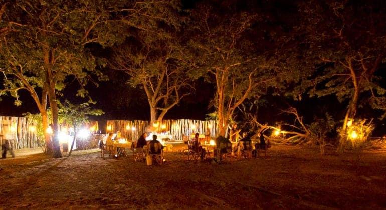 Ngoma Safari Lodge Bush Dinner