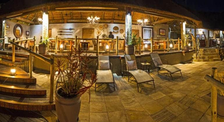 Ngoma Safari Lodge Deck At Night