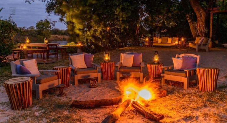 Tongabezi Lodge Fire
