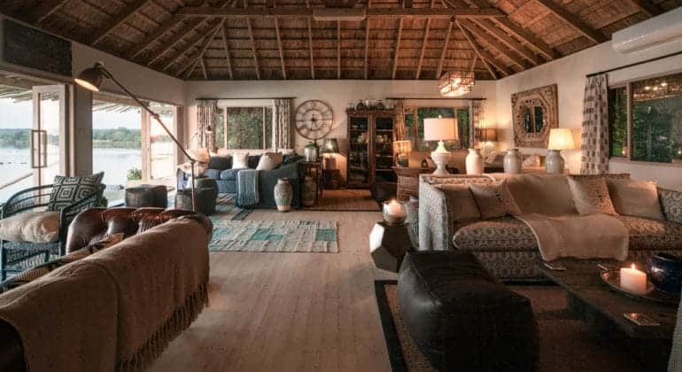 Tongabezi Lodge Lounge